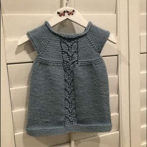 Vintage Baby Blue Crochet Top 6-9 months